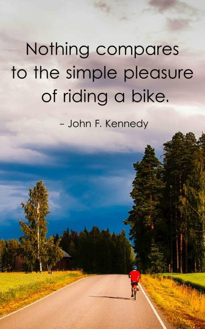 Nothing compares to the simple pleasure of riding a bike.