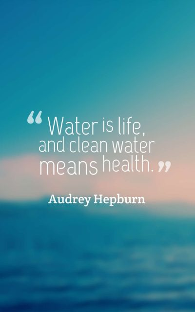 Water is life, and clean water means health.