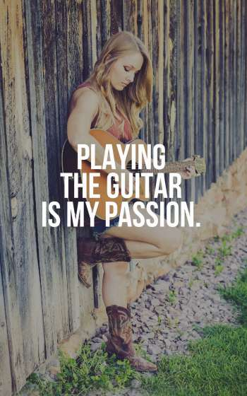 Playing the guitar is my passion.