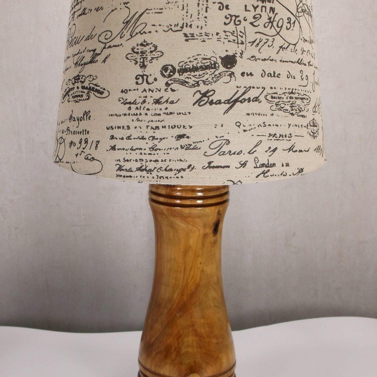 Accent Cedar wood table lamp