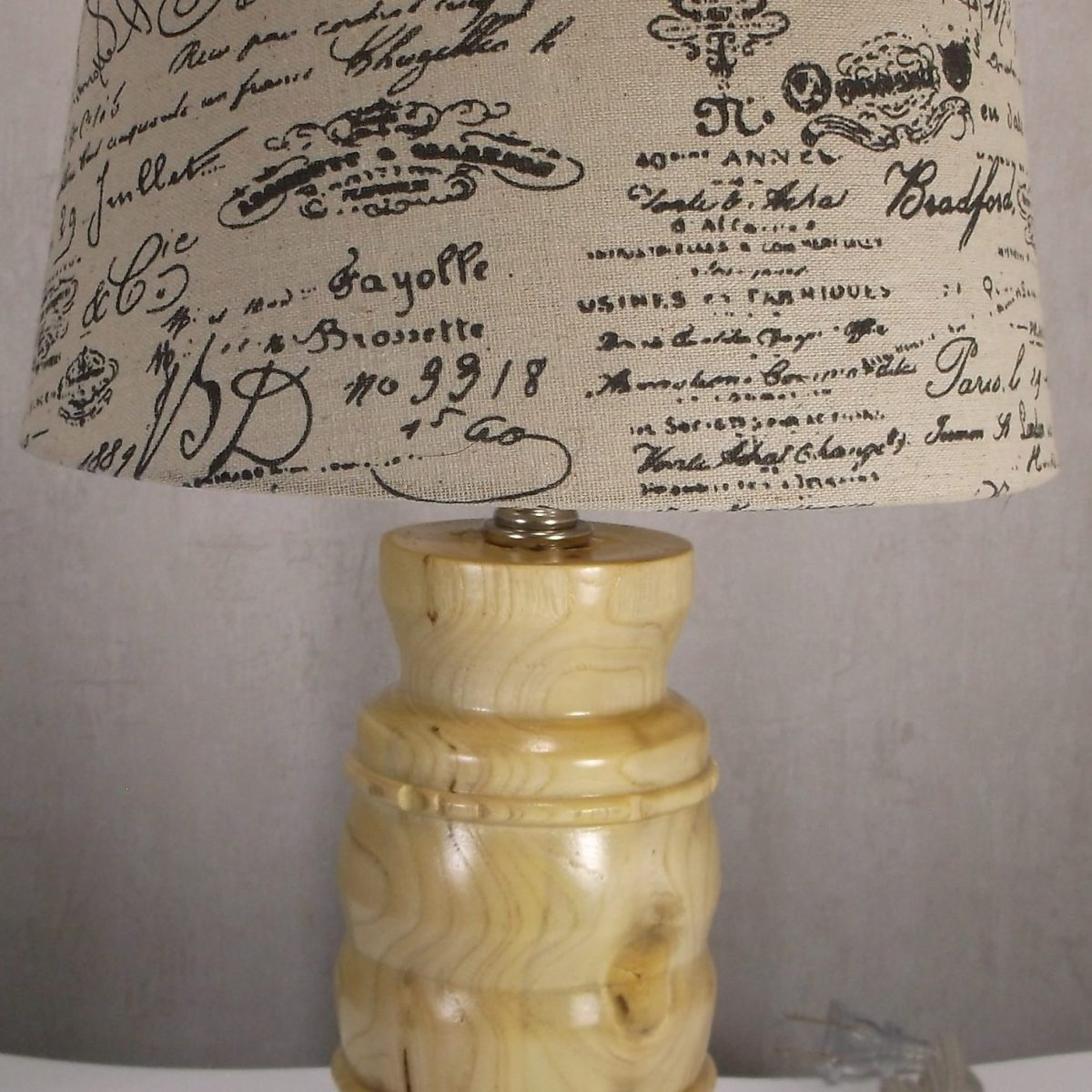 hackberry wooden table lamp