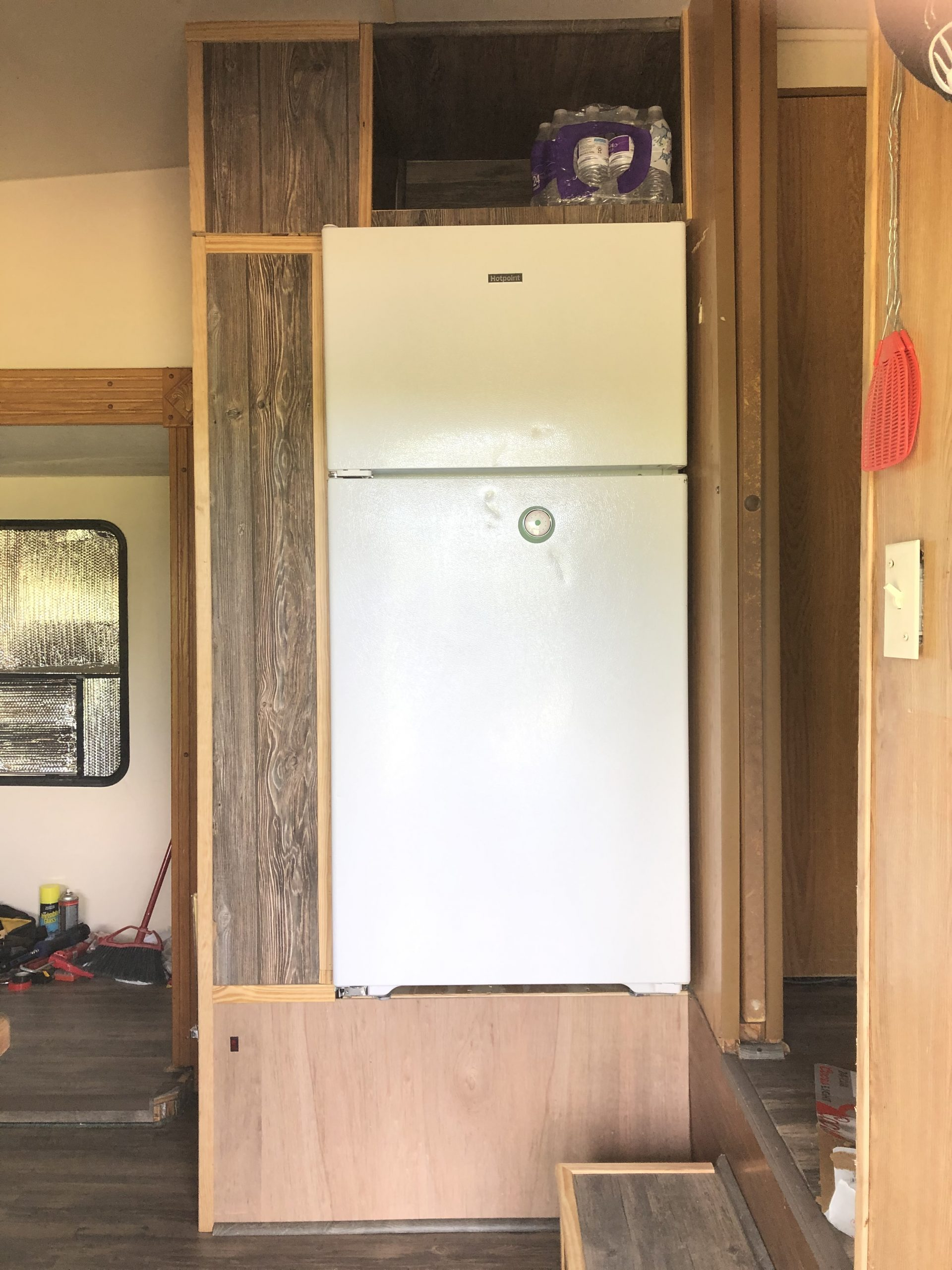 trailer built in cabinets