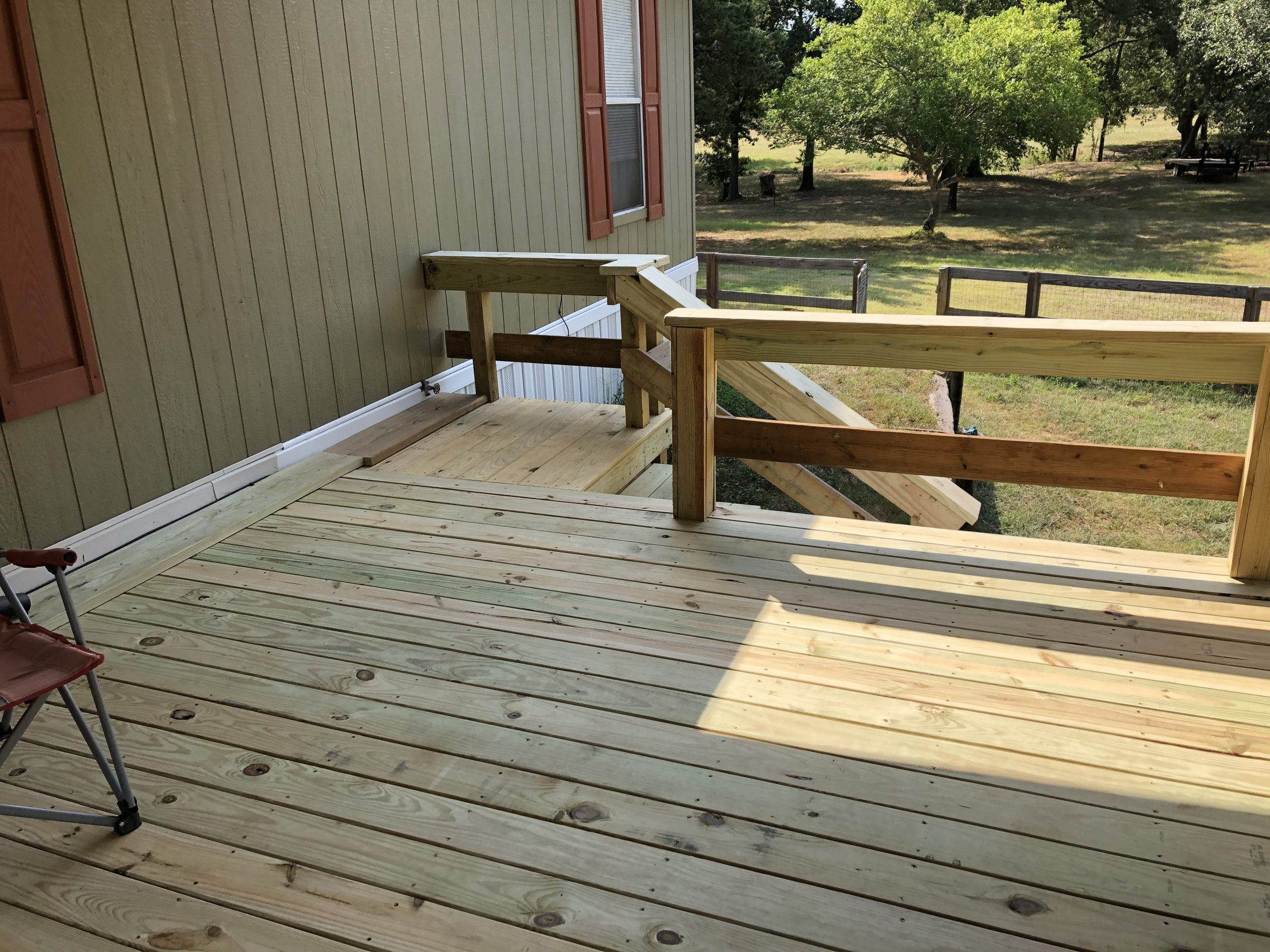 completed front deck