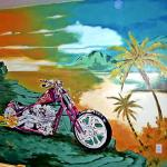 "Motorcycle Mural — ""California Dreamin"""