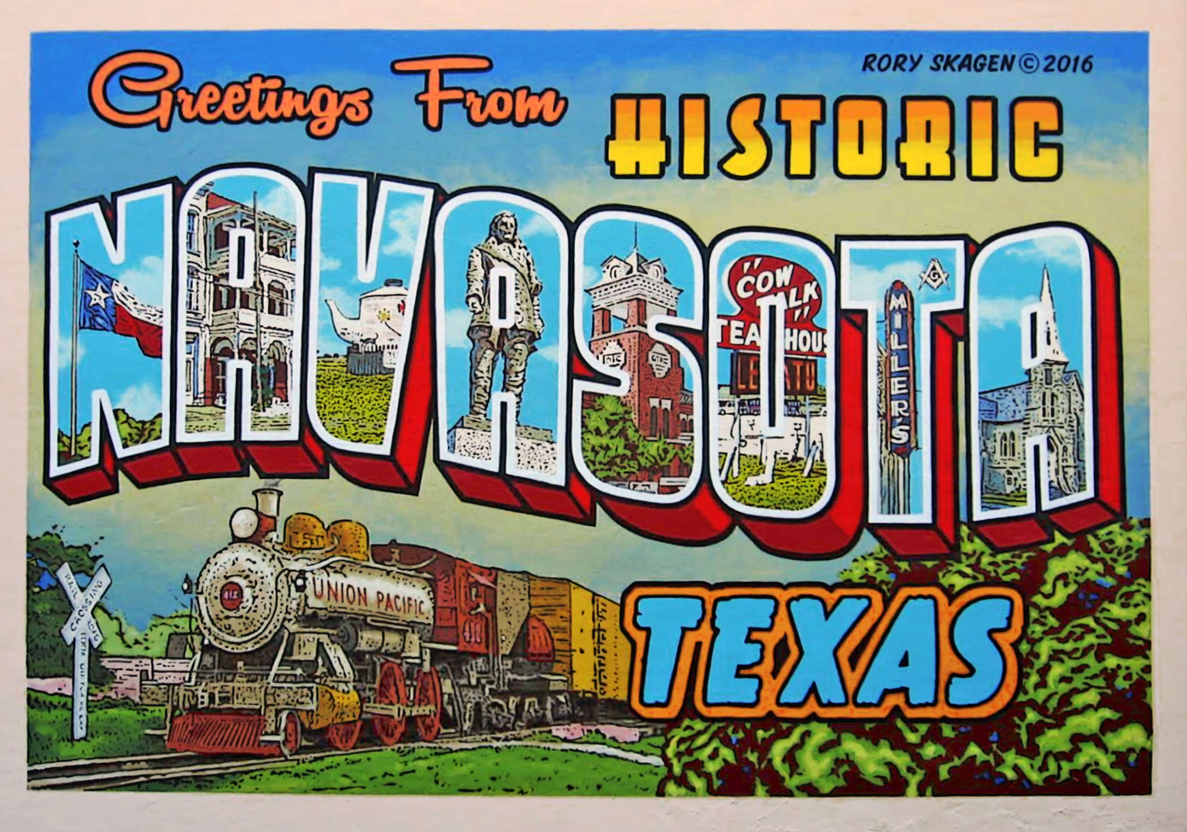 Greetings from navasota mural central texas murals by rory skagen murals1 kristyandbryce Choice Image