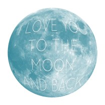 'Moon and back' wall sticker $69.95