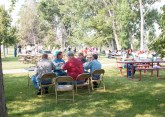 Welcome barbecue with students and CWC employees.