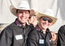 Rodeo team members Kyle Choate and Ryan Sadlier.