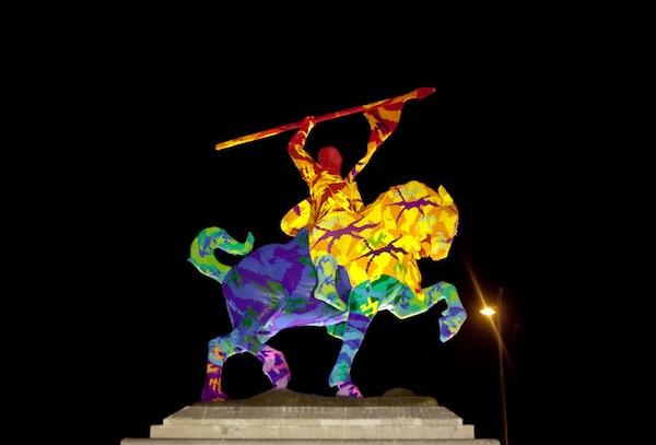 El Cid de crochet.  Foto de Laura Calvarro