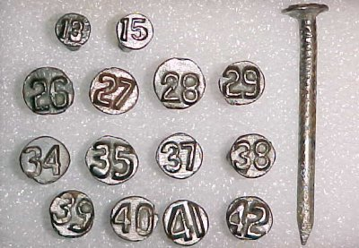 Date nails were manufactured by steel companies on high speed machines, even in the early years.