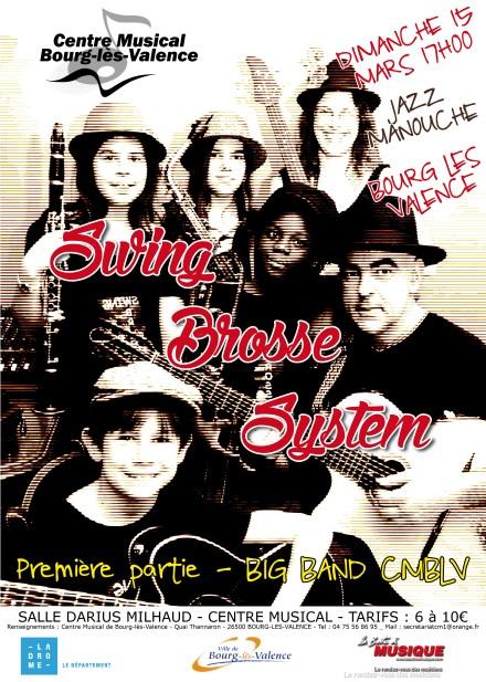 affiche swing brosse system big band