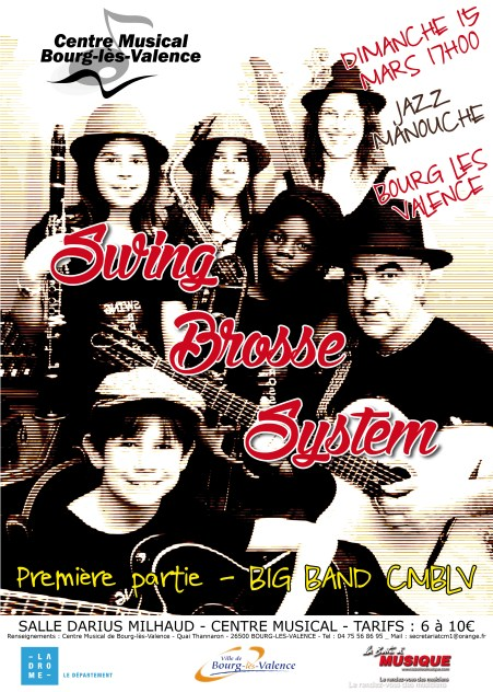 affiche swing brosse system big band
