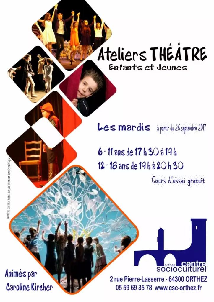 Affiche théâtre 2017-18