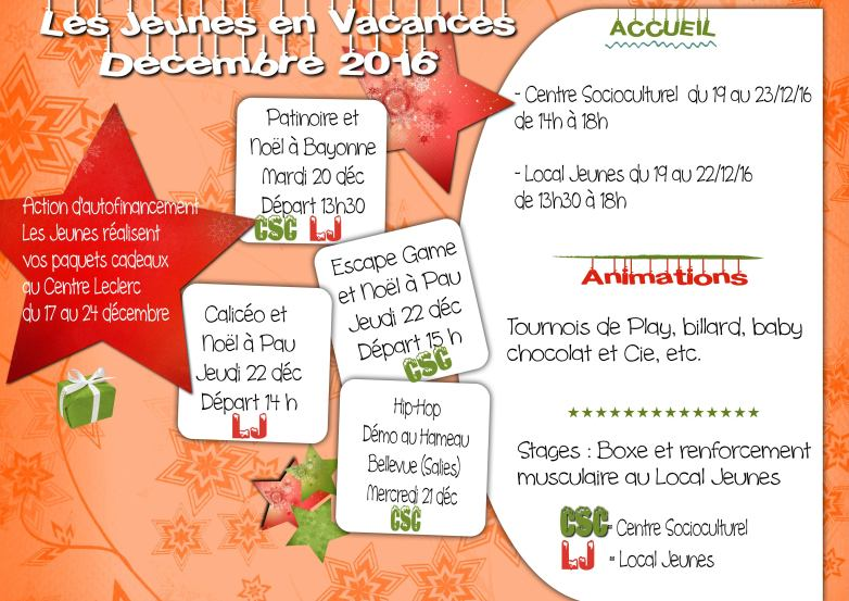 Vacances Jeunes 12-16