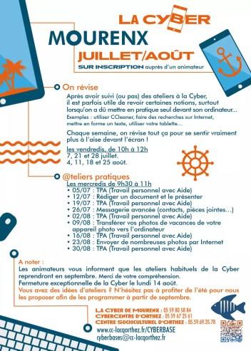 La Cyber programme-mourenx-juillet-aout