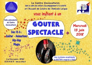 Goûter spectacle Magie 13-6-2018