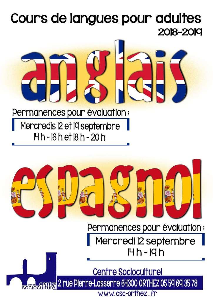 Cours de langues - évaluations