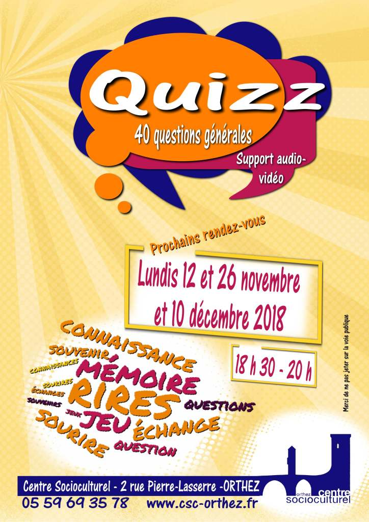 Quizz 2018 suite