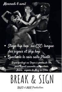 break & sign