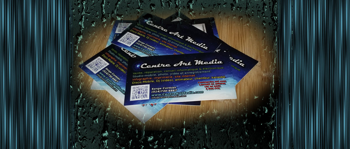 Permalink to: 5000 cartes d'affaires couleur recto verso 150$ infographie inclues.