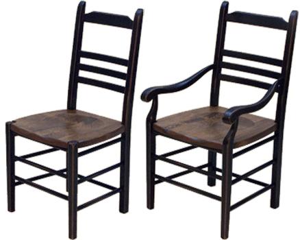 chaise bois rustique