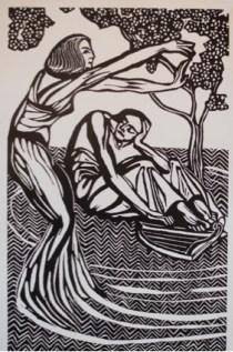 VIVIANE ET MERLIN BOIS GRAVE - Histoire de Notre Bretagne (1922)