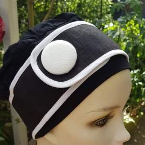 Ouessant OUE3 Noir Blanc - Bonnet Casquette Chimio