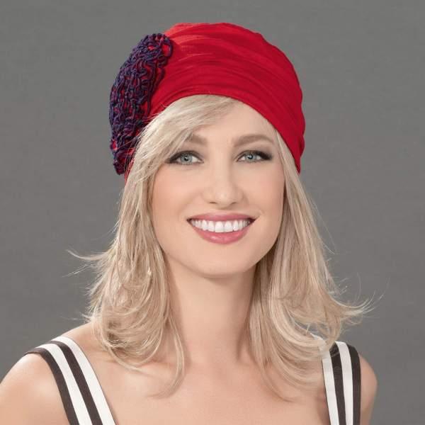 Flora - Bonnet fleur Joceli de la collection Ellen's Headwear. Vue de face