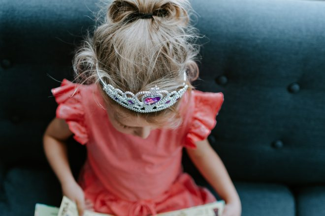 child in tiara