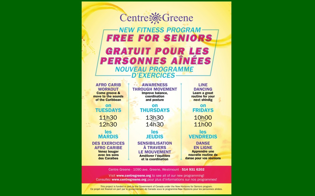 New Seniors' Fitness Classes