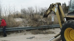 Damaging the dunes to allow vehicles to drive through public and private properties