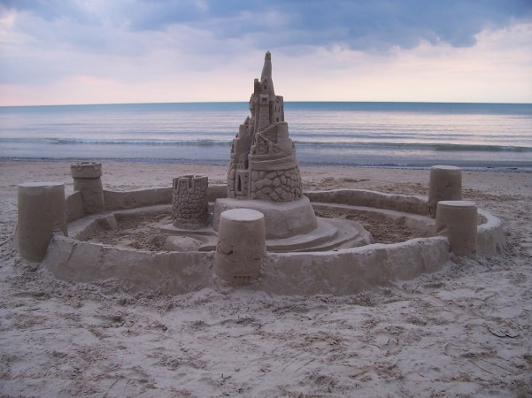 Steve used to come to Ipperwash beach twice a year and build the most incredible sand castles. - V. Mueller