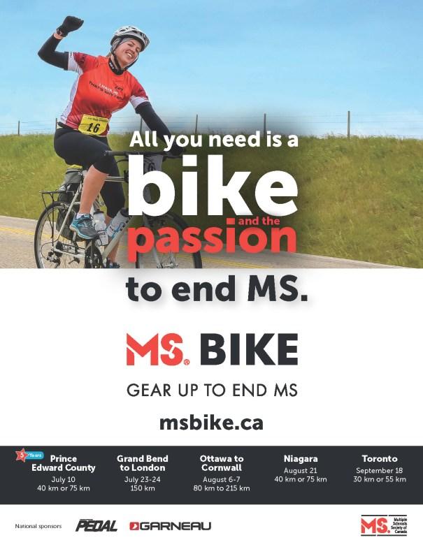 MS Bike Poster Ontario 2016