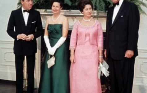 Lord Snowdon, Lady Bird Johnson, Princess Margaret and the United States president Lyndon B. Johnson at the White House on 17 November 1965