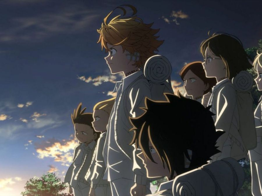 Promotional art for the second season of The Promised Neverland (Made for CloverWorks by CloverWorks)