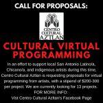 Call for Proposals: Cultural Virtual Programming