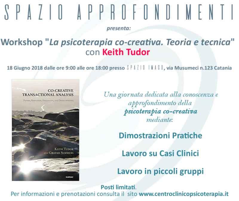 """Workshop """"La psicoterapia co-creativa"""" con Keith Tudor"""