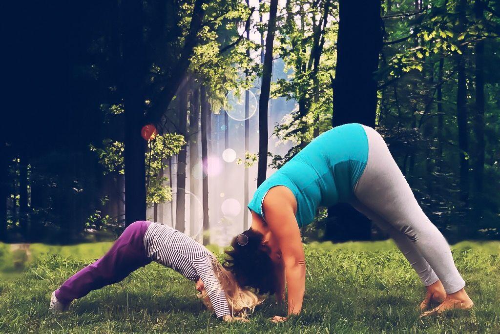 Yoga en Familia en centro de kinesiologia