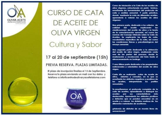 Cartel Curso de Cata 15 h 17-20 Sept
