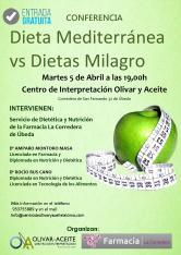 Cartel Charla Dietas Milagro Farmacia Corredera