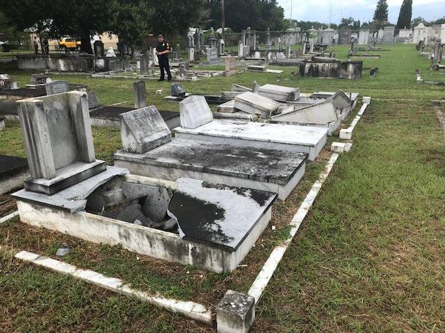 Centro Español Historic Tampa Cemetery Vandalized