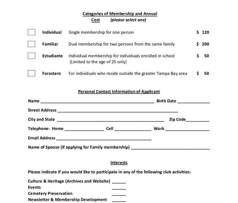 thumbnail of Membership Application – 2019_rev