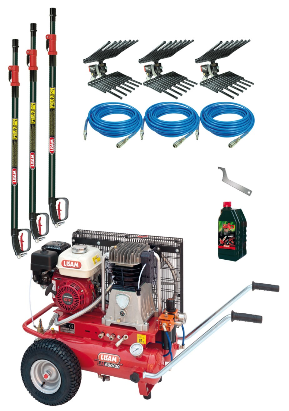Motocompressore Lisam kit professional per 2 operatori