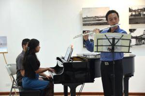 Andrea Villegas y Michael Ramírez, dos artistas jóvenes de nuestro país, tendrán a su cargo el concierto de flauta piano