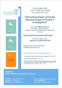 Dall'antropologia criminale alla psicologia criminale e investigativa (1^ edizione)