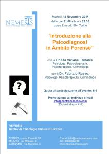 Introduzione alla Psicodiagnosi in Ambito Forense