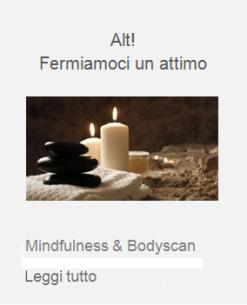 mindfullness body scan consapevolezza del corpo benessere