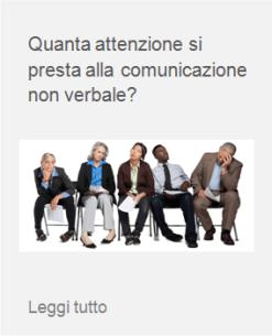 comunicazione non verbale linguaggio del corpo