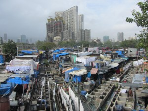 Il quartiere delle lavanderie a Mumbai