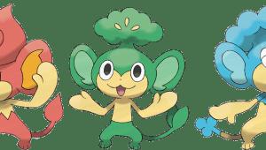Pansage, Pansear y Panpour: tres nuevos nombres Pokémon